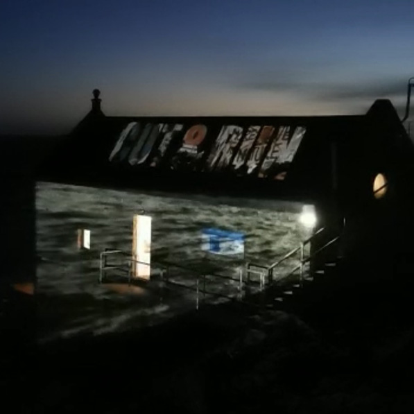 Alyson Minkley - Sink or Swim Porthleven projection installation 2020